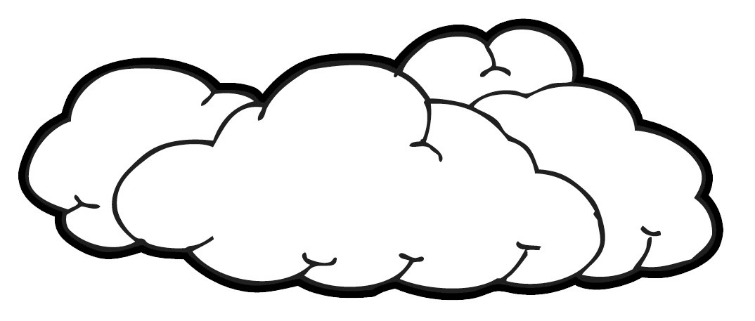 black outline clouds clipart #7345