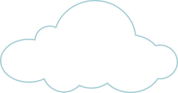 clouds clipart clear background pencil color