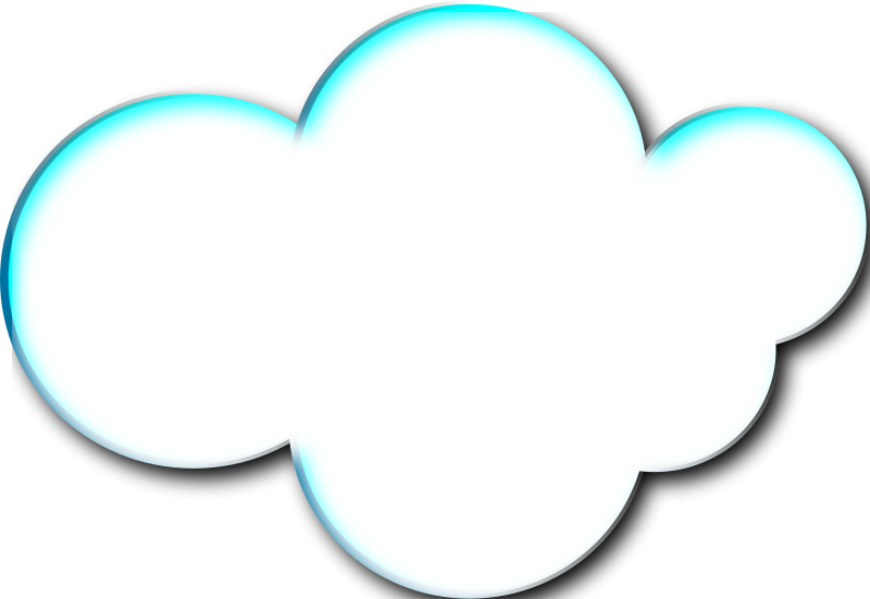 white cloud vector #7358
