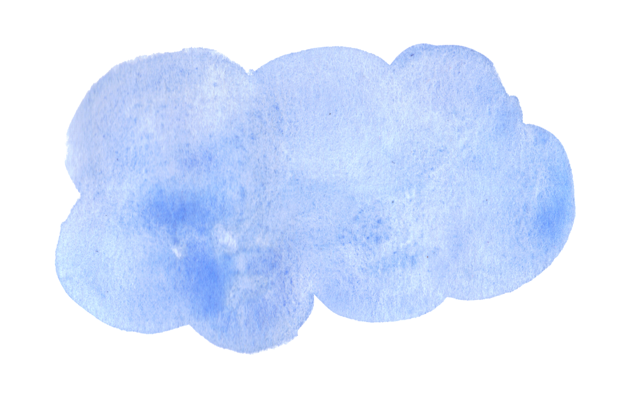 blue watercolor clouds transparent #8128