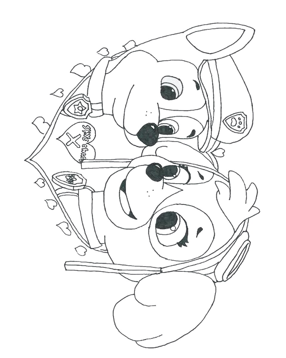coloring page paw patrol badges of paw patrol pictures #2638