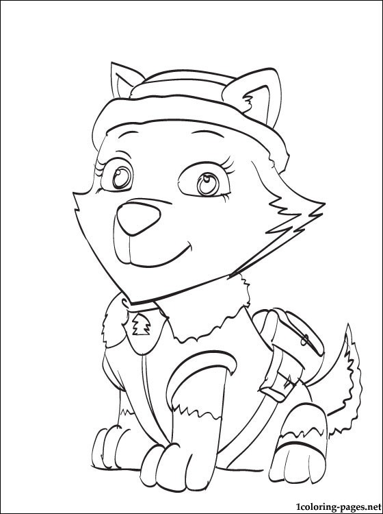 coloring pages of paw patrol halloween #2650