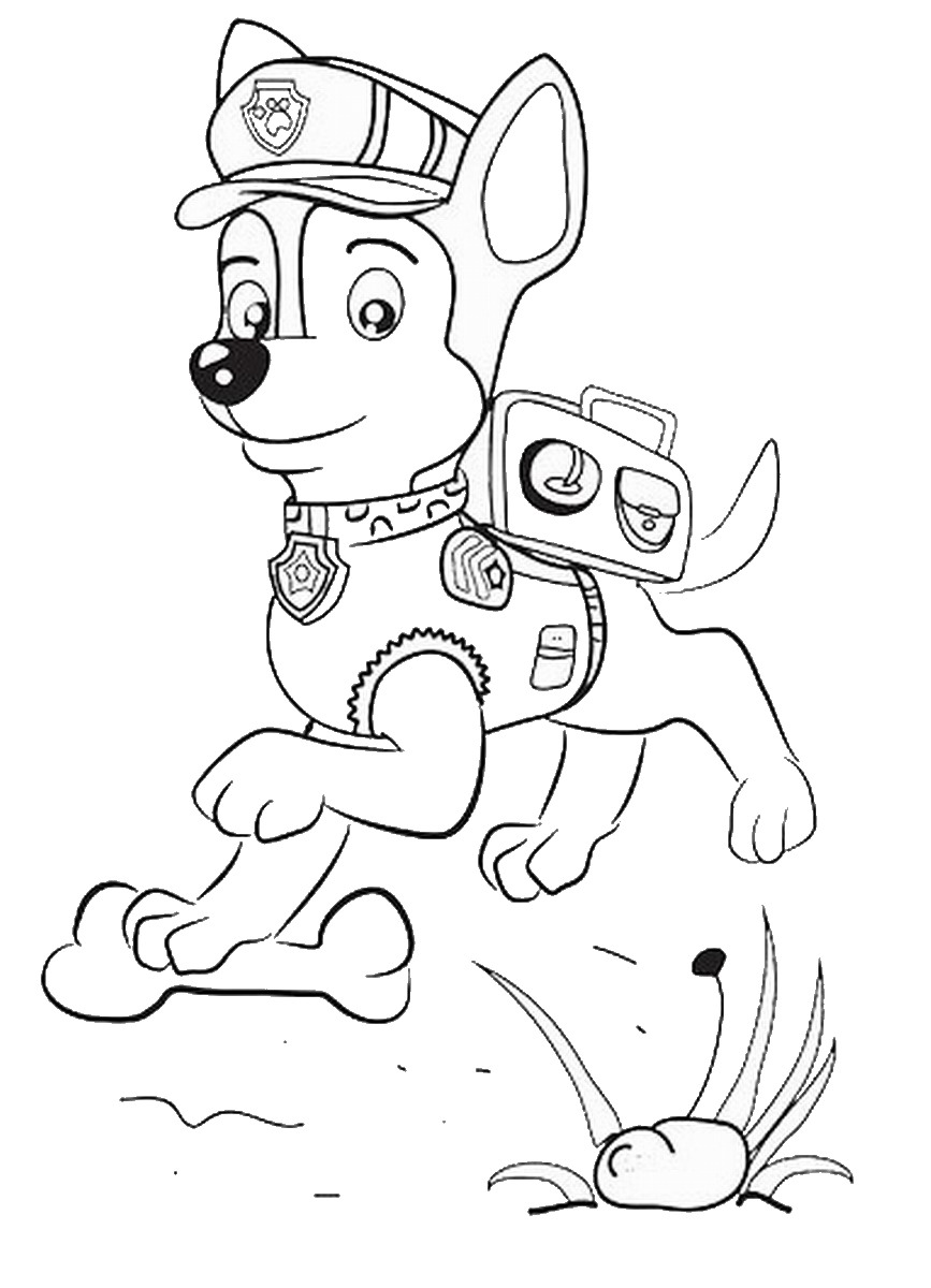 coloring pages of paw patrol image #2645