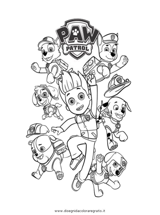 coloring pages of paw patrol team image #2647