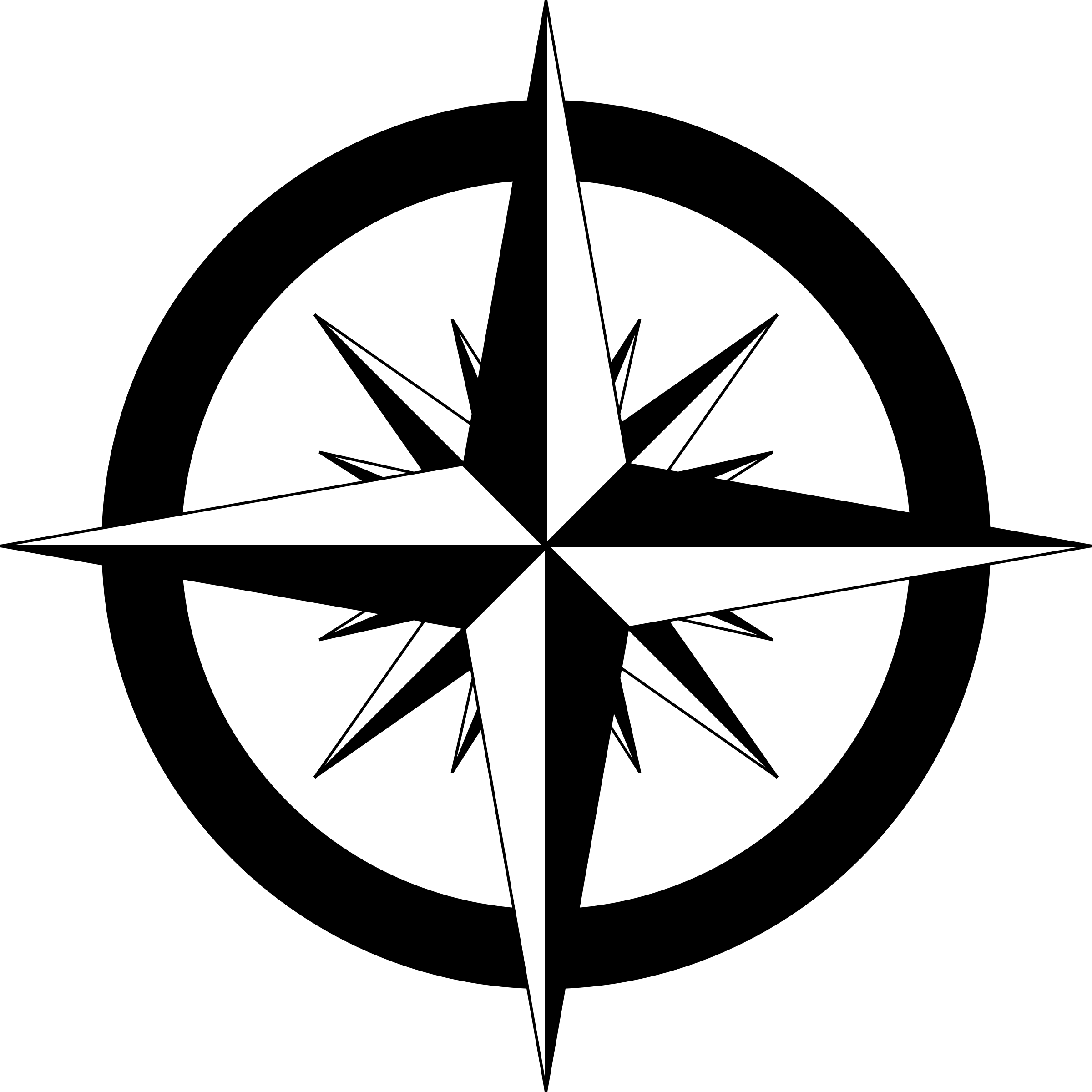 compass rose vector clipart image photo #17134