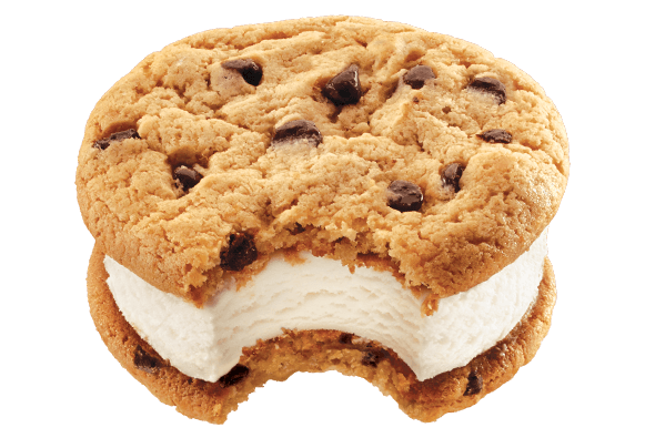 mrs fields chocolate chip cookie ice cream sandwich #23061