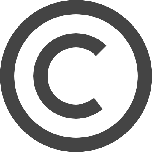 copyright symbol shapes icons #28780