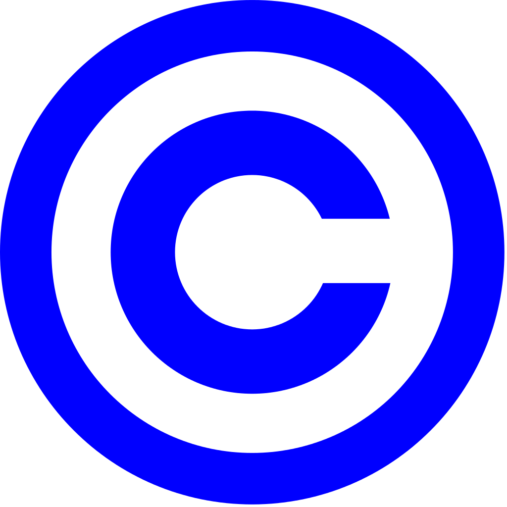file blue copyright svg wikipedia #28778