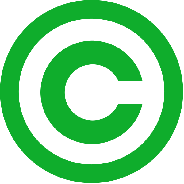 file green copyright svg wikipedia #28777