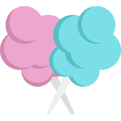 cotton candy food icons #35825