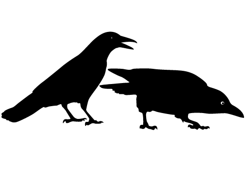crow silhouette, bird vector silhouette archives blog #27614