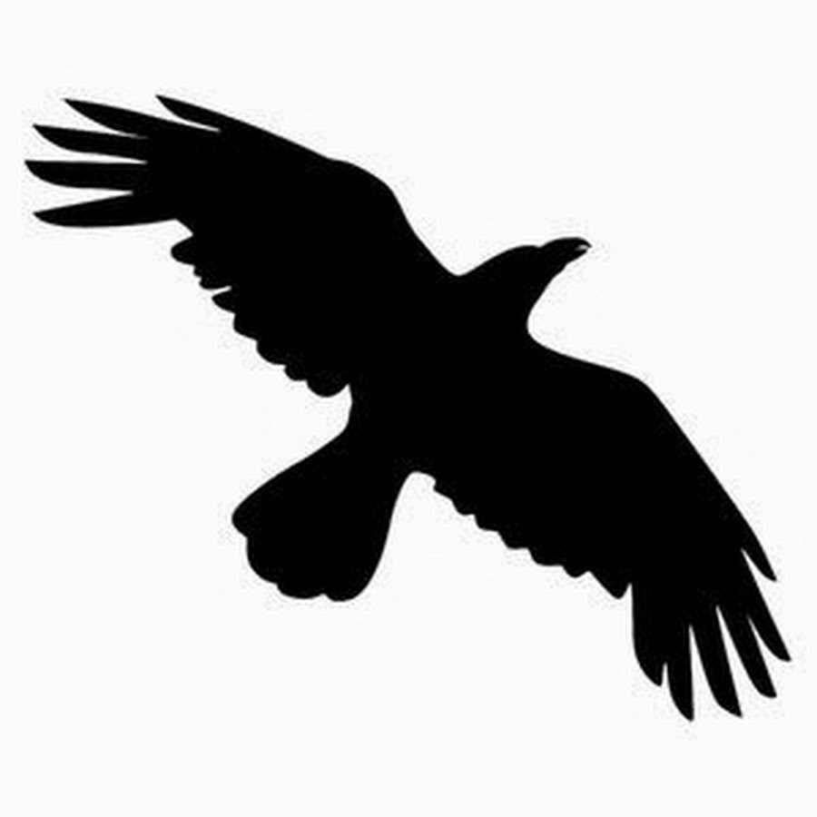 crow silhouette, crow tattoo designs samples and ideas #27605