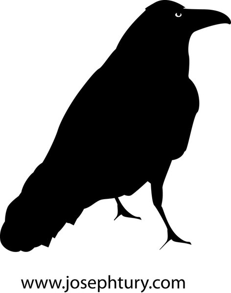 crow silhouette vector vector download #27607