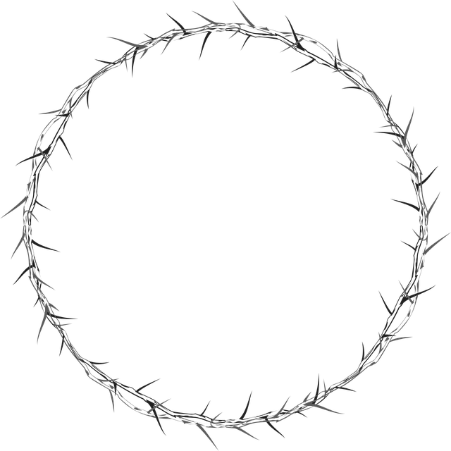 crown of thorns crown thorns circle frame vector graphic pixabay #36038