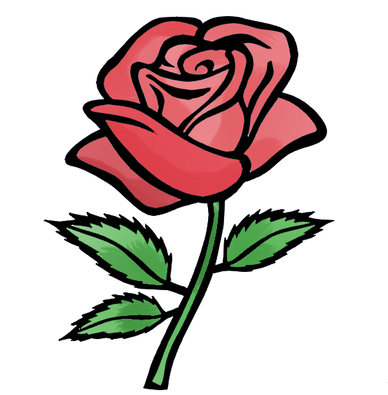 rose thorns rose flower animation flash clipart best #36096