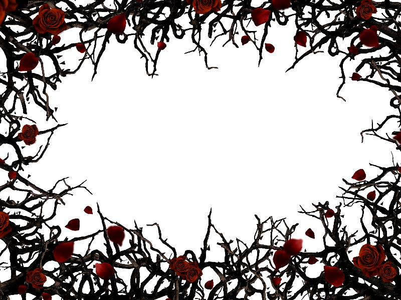 rose thorns roses and thorns border frame png background nature #36088