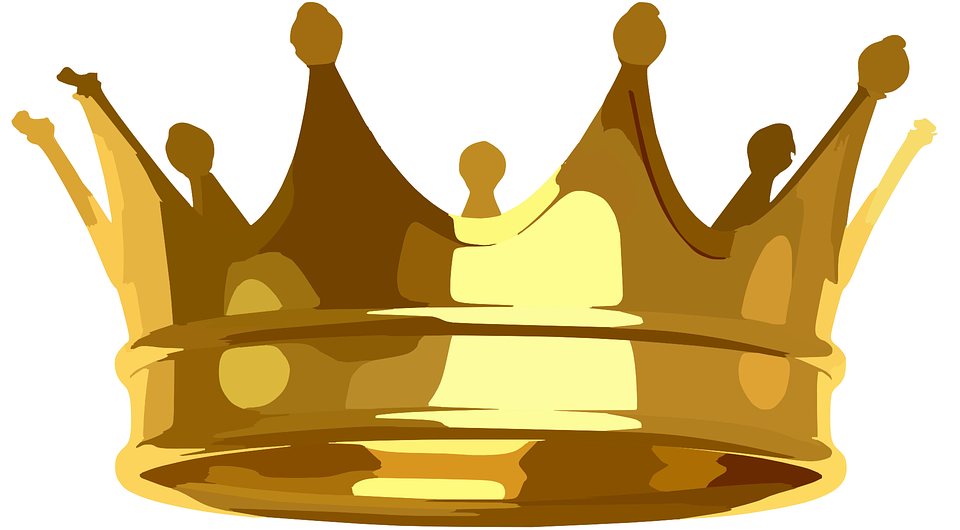 crown golden royal vector graphic pixabay #10800