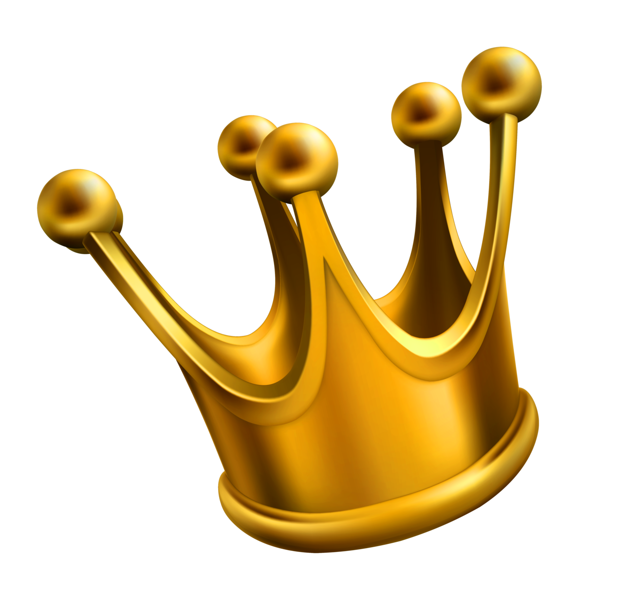 simple golden crown png clipart #10706