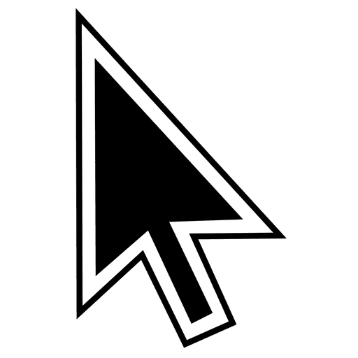 arrow cursor transparent png svg vector #12506