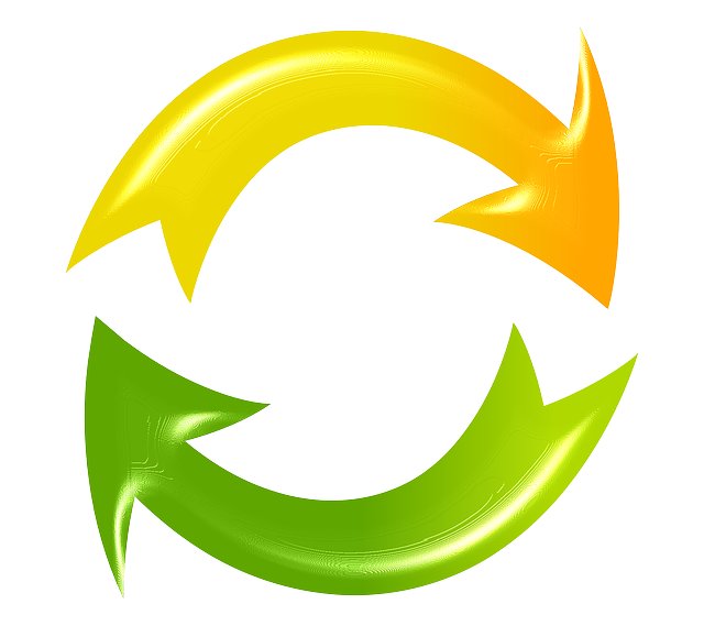 refresh reload cycle arrows green yellow #14867