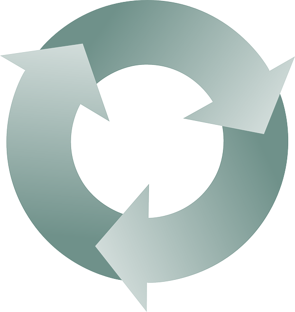 vector graphic cycle recycling recycle arrows #14863