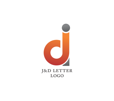 d letter psd logo design download #1362