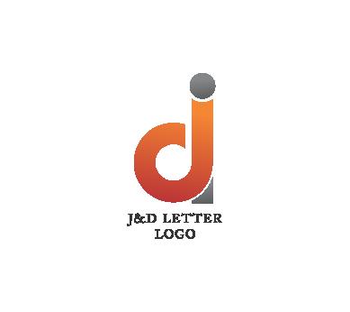 d letter psd logo design download #1362