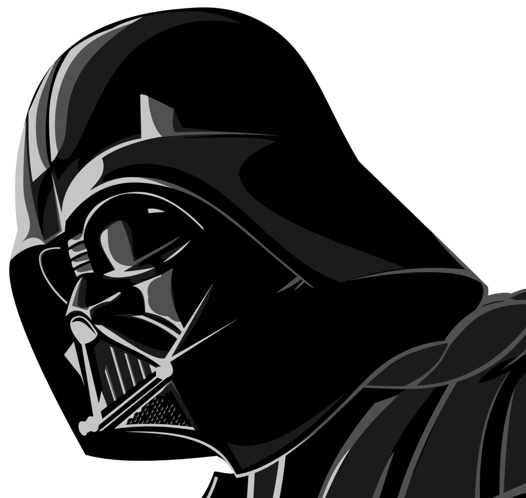 drawn darth vader white background pencil and color #18583