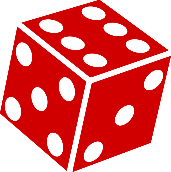 dice cube die vector graphic pixabay #30465