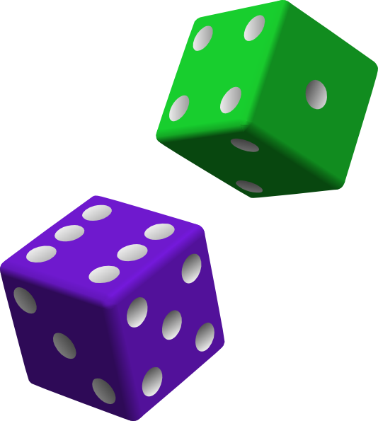 green and purple dice clip art clkerm vector clip art online royalty domain #30535