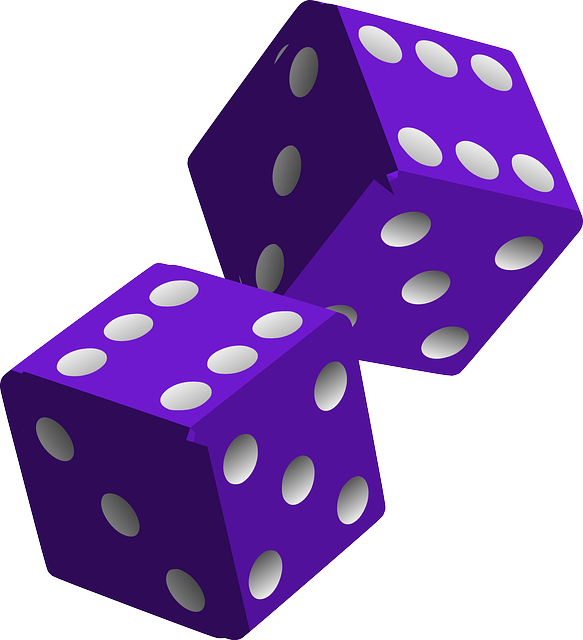 vector graphic dice die purple game play image pixabay #30543