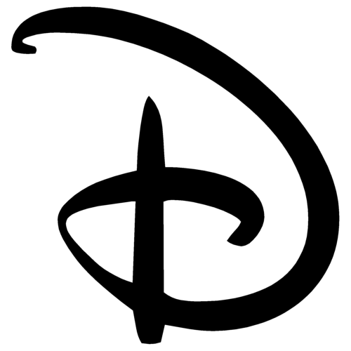 Disney D Letter simple logo png #1391