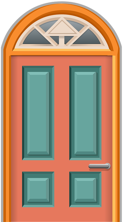 door entrance front vector graphic pixabay #15813
