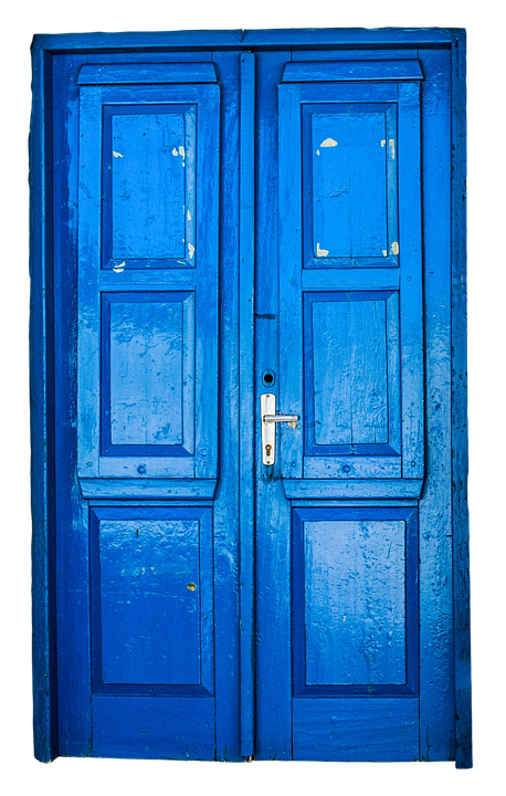 door old blue photo pixabay #15861