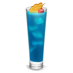 cocktail curacao icon drinks iconset miniartx #15718