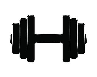 dumbbell weight training svg etsy #35675