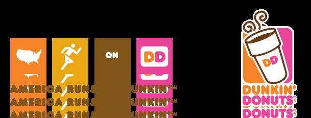 america runs on dunkin png logo