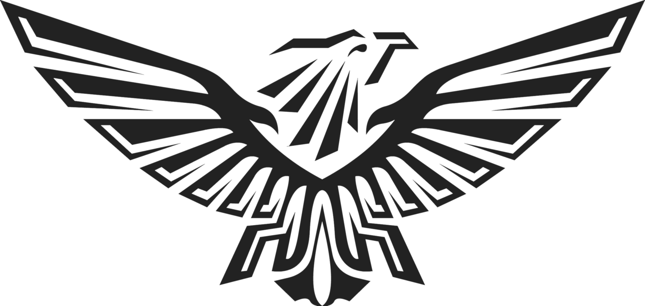 black eagle logos png clipart #3214