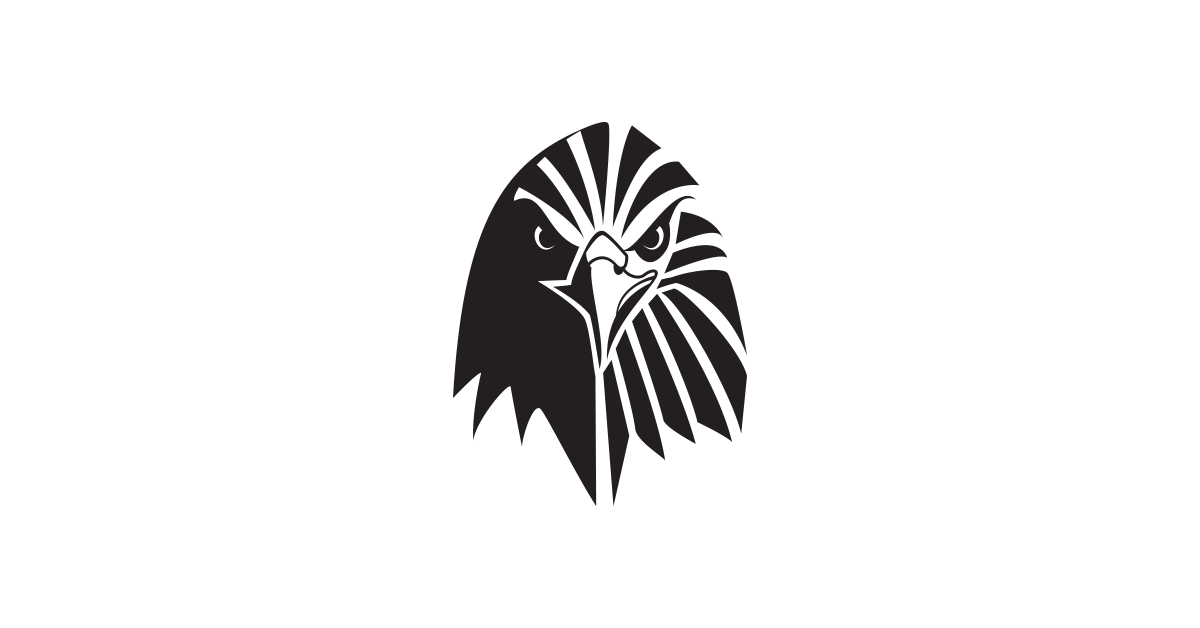 eagle logo template black and white png #3221