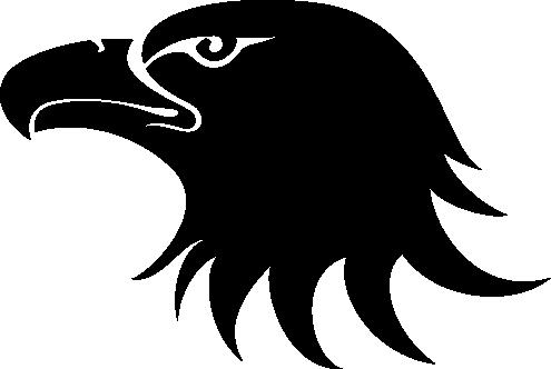 Black Eagle Head Logo