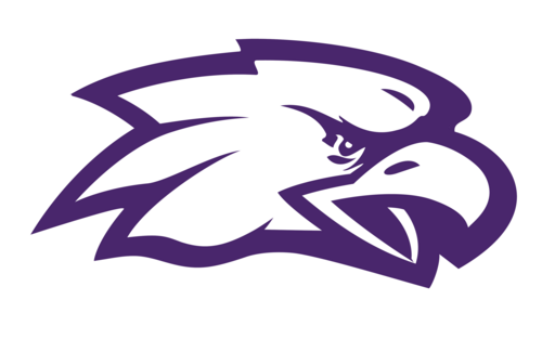 eagles purple sports information png logo