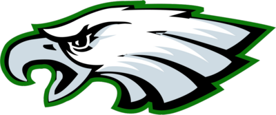 green metal emblem eagles logo png 4056