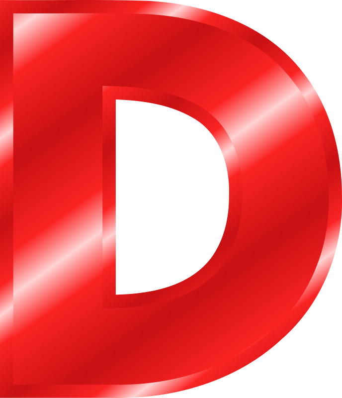 Effect Letters Alphabet red d logo png #1383