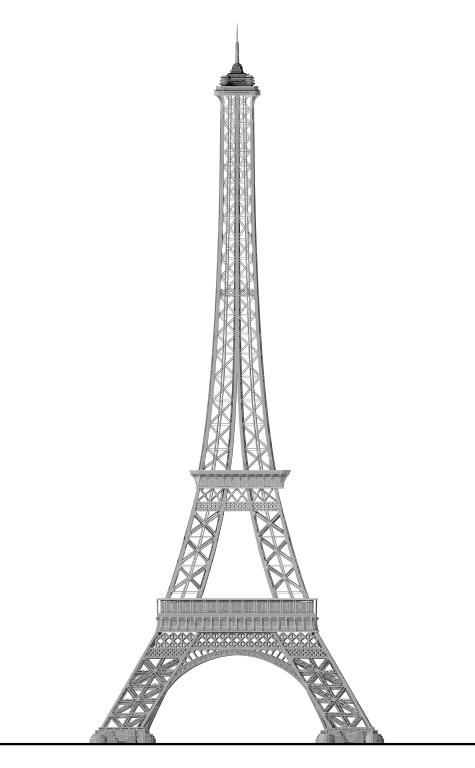 file detailed eiffel tower svg wikimedia commons #18043
