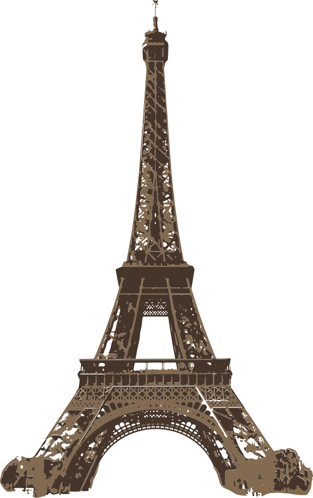 file eiffel tower from champ mars brown icon svg #18016