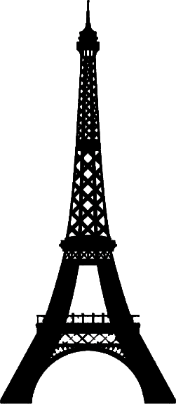 eiffel tower silhouette, color psychology wonderful darkness #20036