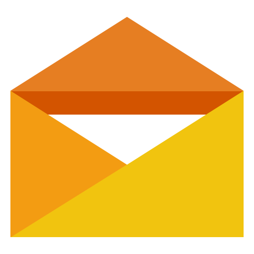 orange opened envelope letter mail icons and #22254