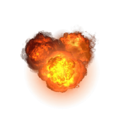 triple explosion png transparent #14085