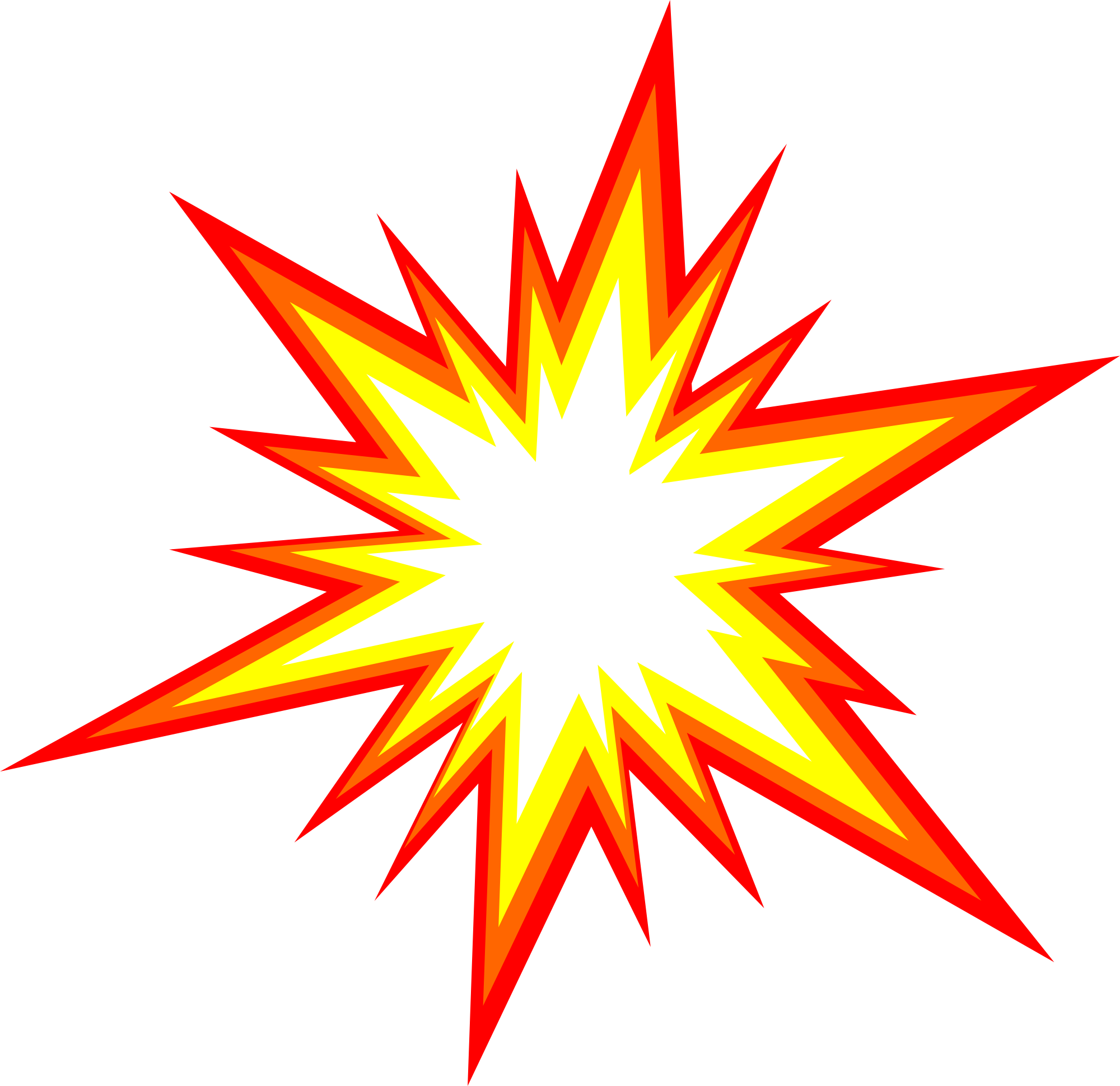 clipart starburst explosion comic vector png transparent #14272