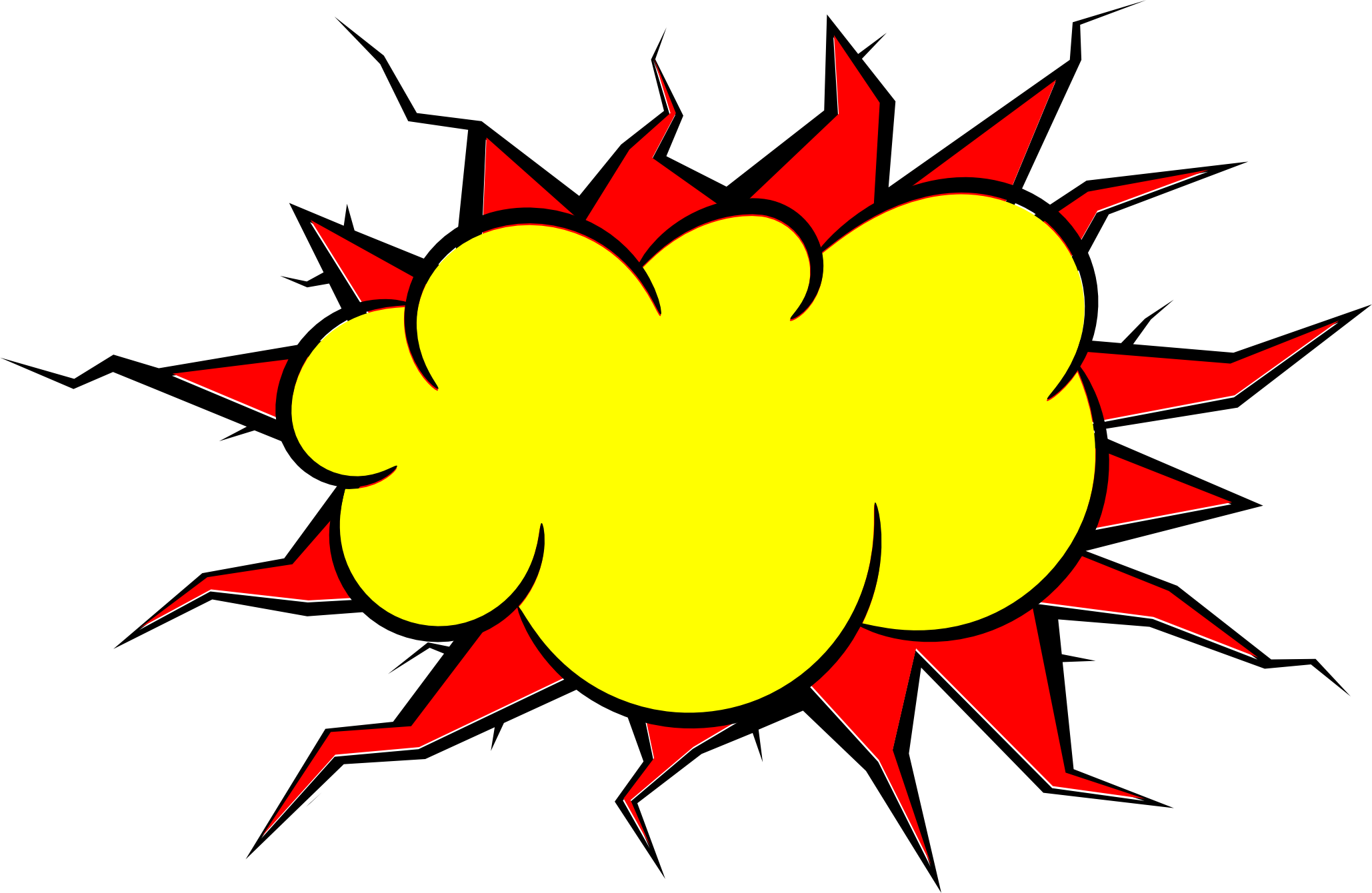 comic explosion bubble png transparent #14291